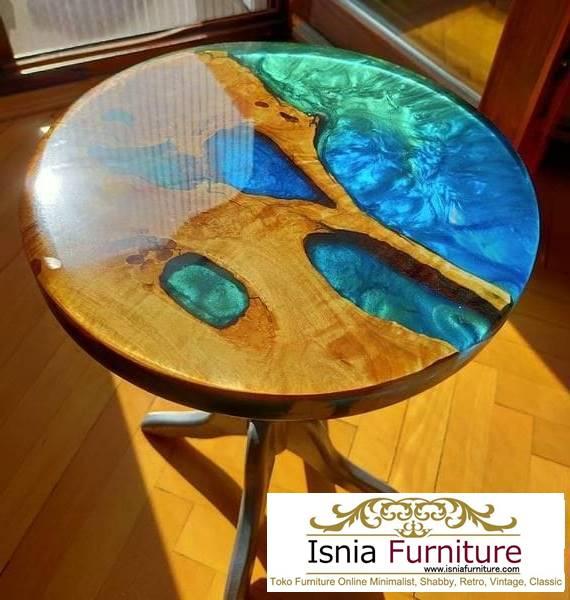 meja-resin-menyala-bentuk-bulat-mewah-cocok-untuk-meja-tamu Harga Jual Meja Resin Menyala Murah Terbaru Terlaris