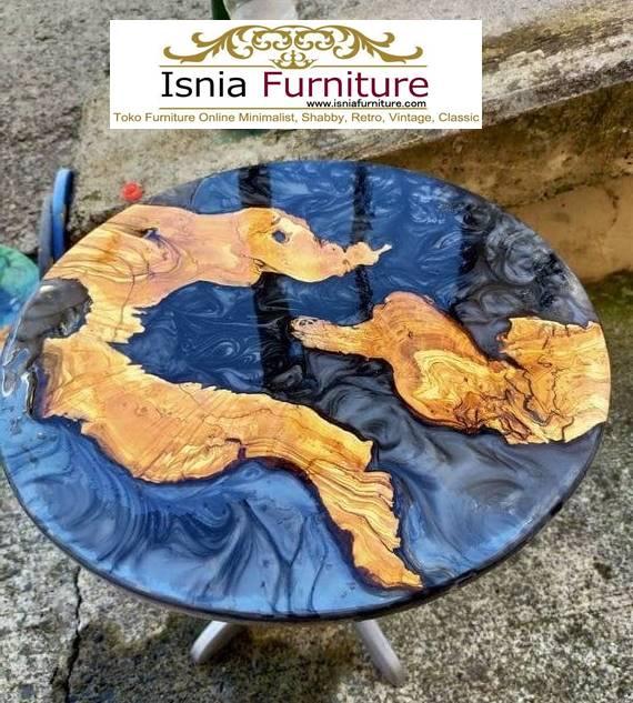 meja-resin-menyala-bentuk-bulat-minimalis-solid Harga Jual Meja Resin Menyala Murah Terbaru Terlaris