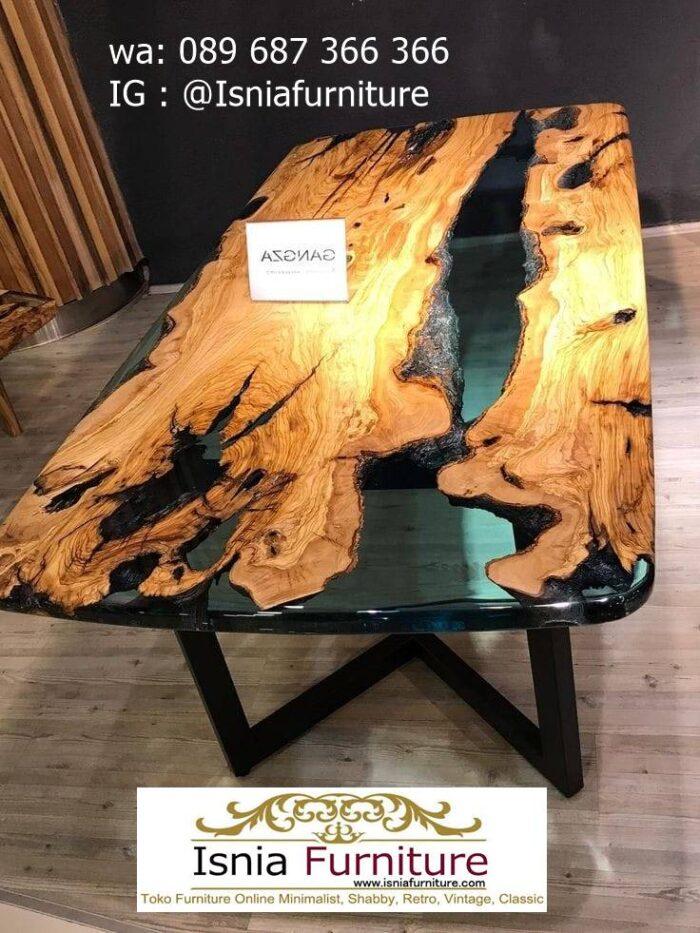 meja-resin-menyala-desain-kaki-besi-minimalis-solid-700x933 Harga Jual Meja Resin Menyala Murah Terbaru Terlaris