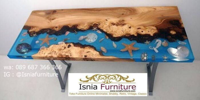 meja-resin-menyala-desain-kaki-stainless-unik-2-700x350 Jual Meja Resin Unik Antik Modern Terlaris Harga Murah