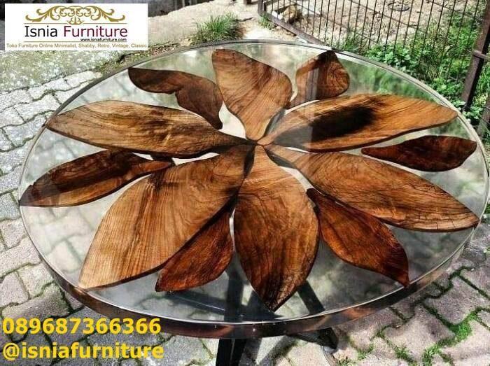 meja-resin-unik-kayu-solid-bentuk-bulat-minimalis-700x523 Jual Meja Resin Unik Antik Modern Terlaris Harga Murah