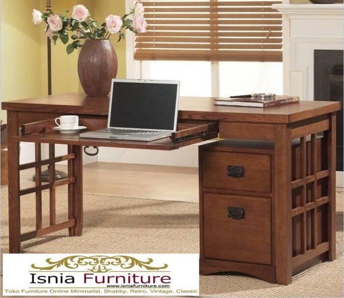 meja-kantor-kerja-kayu-jati-solid-kekinian-model-terbaru-700x606 Meja Kantor Kerja Kayu Solid Minimalis Murah Terbaru