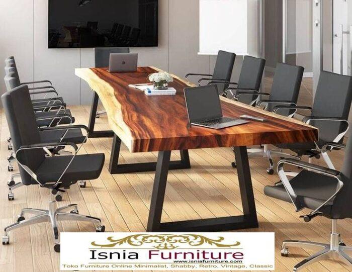 meja-kantor-kerja-kayu-solid-trembesi-utuh-tebal-700x541 Meja Kantor Kerja Kayu Solid Minimalis Murah Terbaru