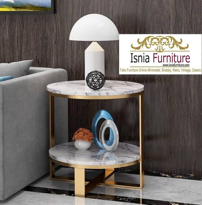 meja-sudut-marmer-bentuk-bulat-minimalis-terpopuler-saat-ini-700x711 Jual Meja Sudut Marmer Modern Terlaris Harga Terjangkau