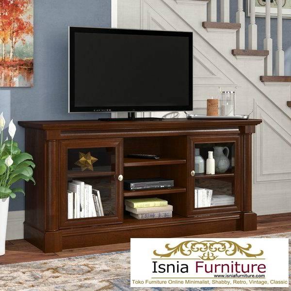 meja-tv-kayu-jati-antik-minimalis-solid-terlaris Jual Meja Tv Kayu Jati Antik Solid Minimalis Kekinian