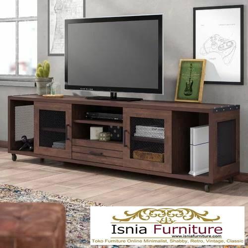 meja-tv-kayu-jati-antik-minimalis Jual Meja Tv Kayu Jati Antik Solid Minimalis Kekinian