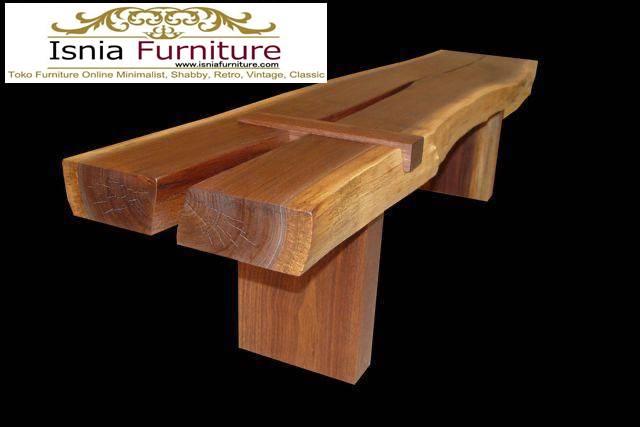 bangku-panjang-trembesi-kayu-solid-kekinian Jual Bangku Panjang Trembesi Solid Minimalis Modern
