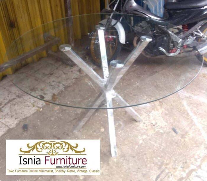 kaki-meja-makan-stainless-steel-anti-karat-bentuk-bulat-unik-700x613 Jual Kaki Meja Makan Stainless Steel Anti Karat Murah Terlaris