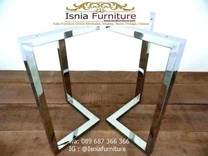 kaki-meja-makan-stainless-steel-anti-karat-terbaik-700x525 Jual Kaki Meja Makan Stainless Steel Anti Karat Murah Terlaris