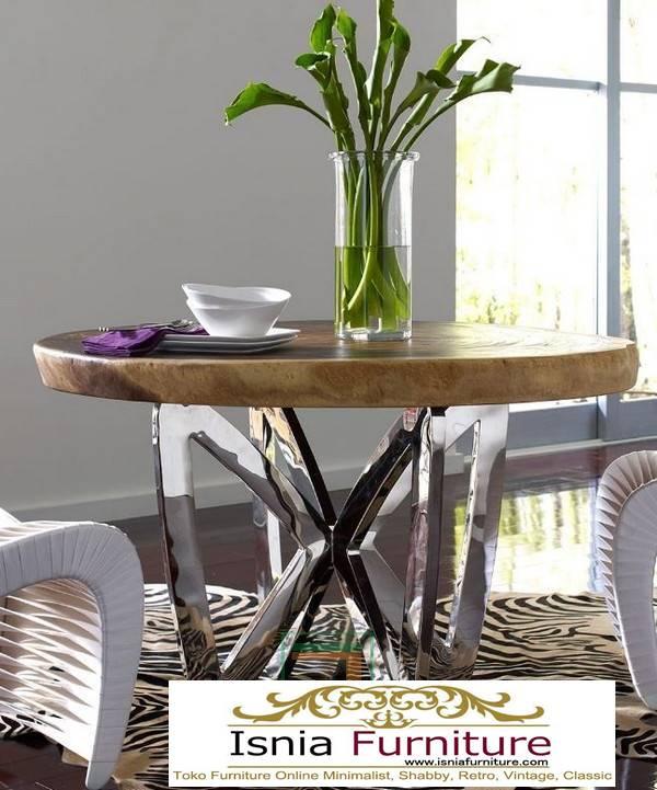 kaki-meja-makan-stainless-steel-bentuk-bulat-minimalis Jual Kaki Meja Makan Stainless Steel Anti Karat Murah Terlaris