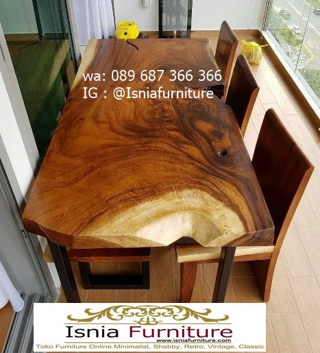 meja-kursi-balok-kayu-solid-untuk-meja-makan-tebal-utuh Jual Meja Makan Kayu Balok Harga Murah Terlaris