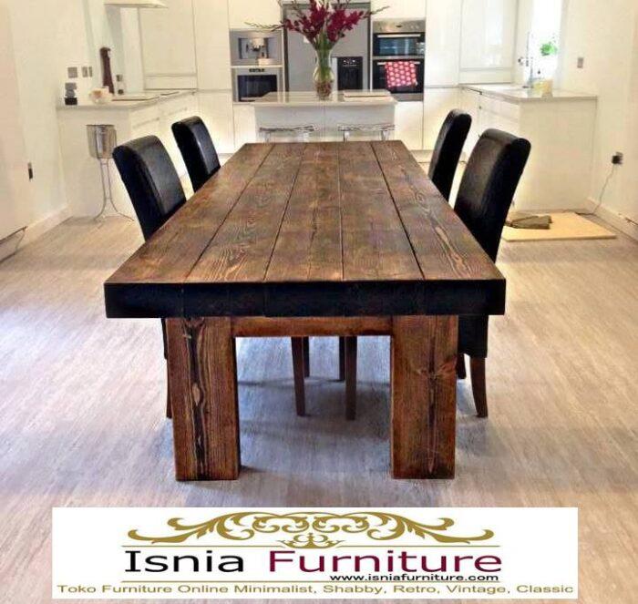 meja-makan-kayu-balok-tebal-utuh-dari-kayu-jati-solid-700x663 Jual Meja Makan Kayu Balok Harga Murah Terlaris