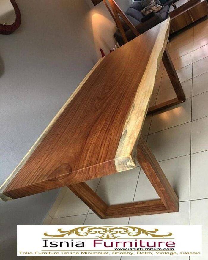 meja-makan-kayu-balok-trembesi-solid-700x875 Jual Meja Makan Kayu Balok Harga Murah Terlaris