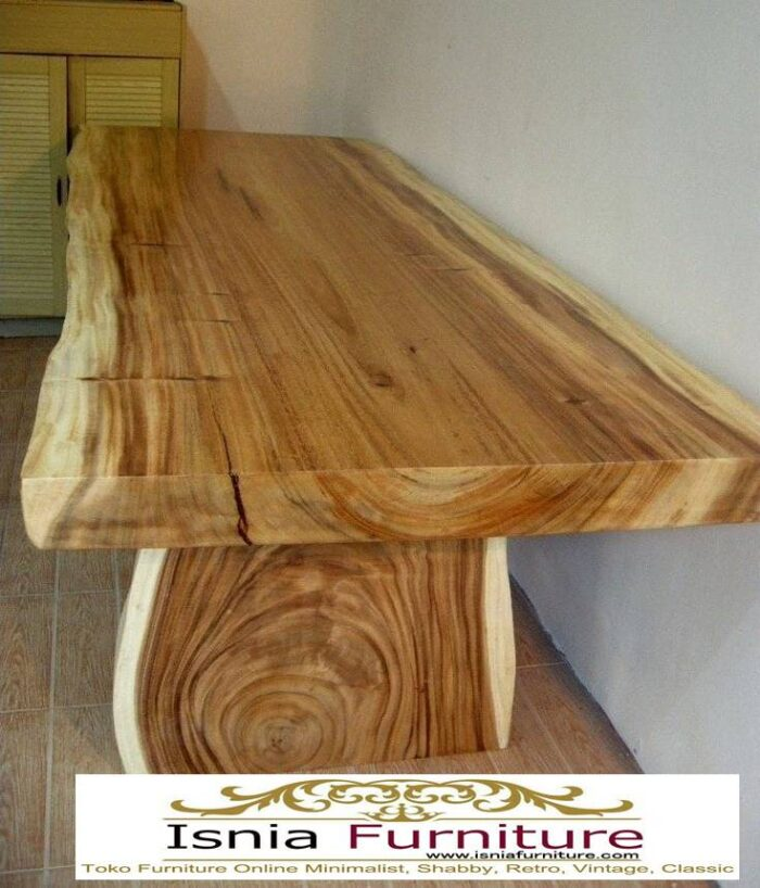 meja-makan-kayu-balok-trembesi-solid-utuh-tebal-700x818 Jual Meja Makan Kayu Balok Harga Murah Terlaris