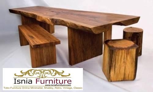meja-makan-kayu-balok-utuh-tebal-dari-kayu-jati-solid Jual Meja Makan Kayu Balok Harga Murah Terlaris
