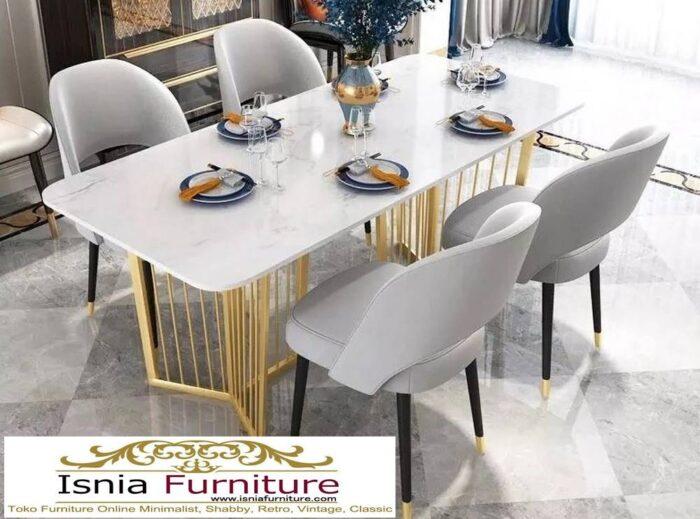 meja-makan-marmer-kaki-stainless-gold-minimalis-mewah-harga-murah-700x519 Jual Meja Makan Marmer Kaki Stainless Gold Harga Murah Terlaris