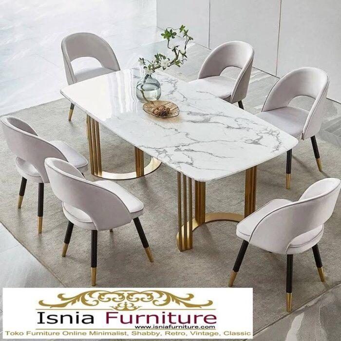 meja-makan-marmer-kaki-stainless-gold-terbaru-700x700 Jual Meja Makan Marmer Kaki Stainless Gold Harga Murah Terlaris