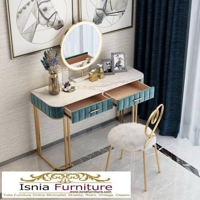 meja-rias-marmer-paling-unik-desain-kaki-stainless-700x700 Jual Meja Rias Marmer Modern Harga Terjangkau Terpopuler