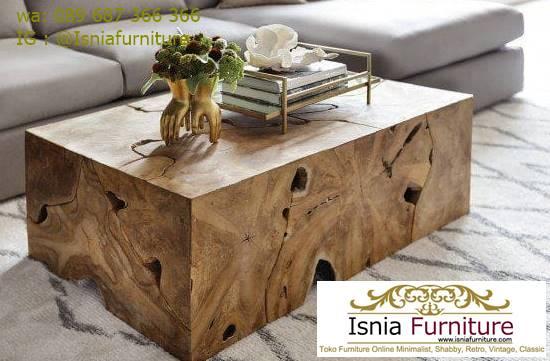 meja-tamu-kayu-jati-utuh-tebal-bentuk-kotak-gelondongan Meja Tamu Tebal Kayu Jati Antik Solid Minimalis