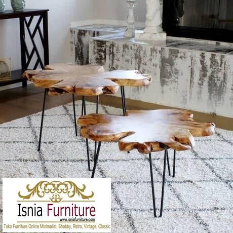 meja-tamu-tebal-kayu-jati-solid-antik-desain-kaki-besi-paling-unik Meja Tamu Tebal Kayu Jati Antik Solid Minimalis