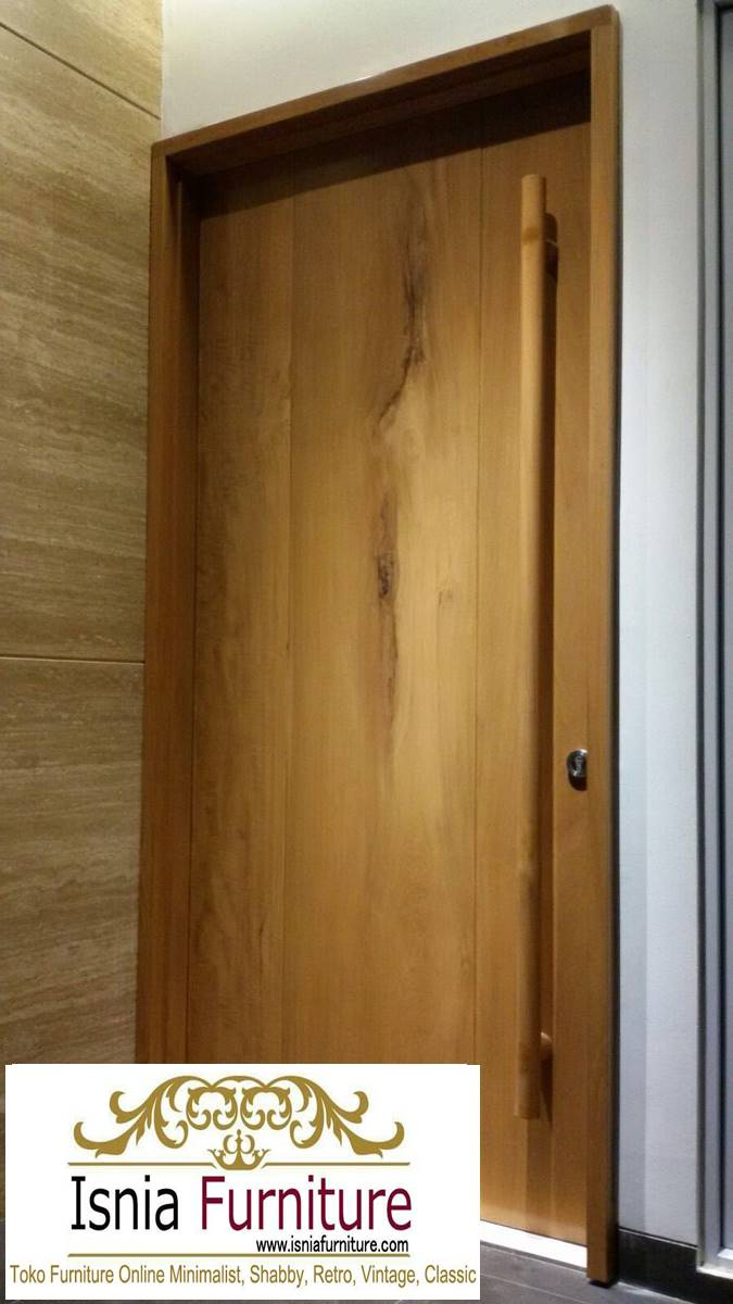pintu-kayu-trembesi-minimalis-modern Jual Pintu Kayu Trembesi Solid Harga Murah Terbaru