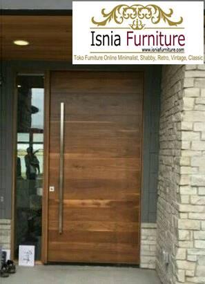 pintu-kayu-trembesi-solid-minimalis Jual Pintu Kayu Trembesi Solid Harga Murah Terbaru