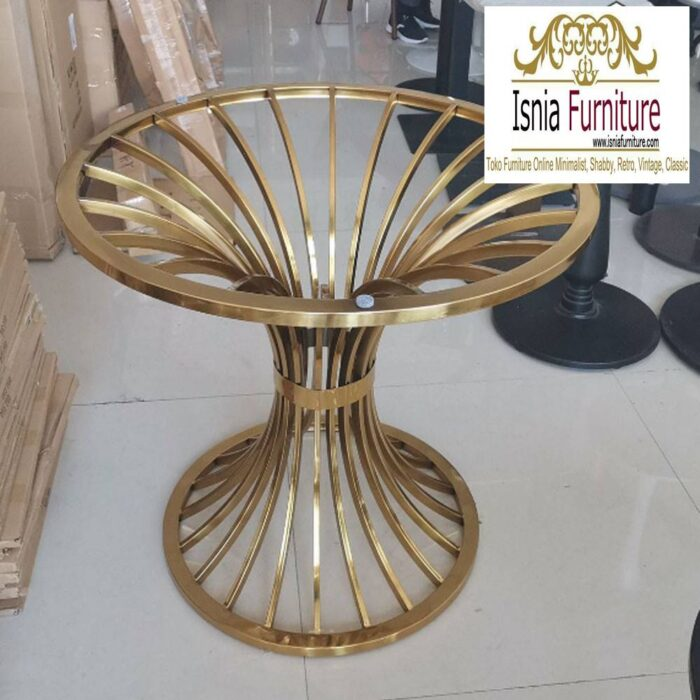 kaki-meja-stainless-gold-anti-karatan-700x700 Jual Kaki Meja Stainless Gold Mewah Kualitas Terbaik