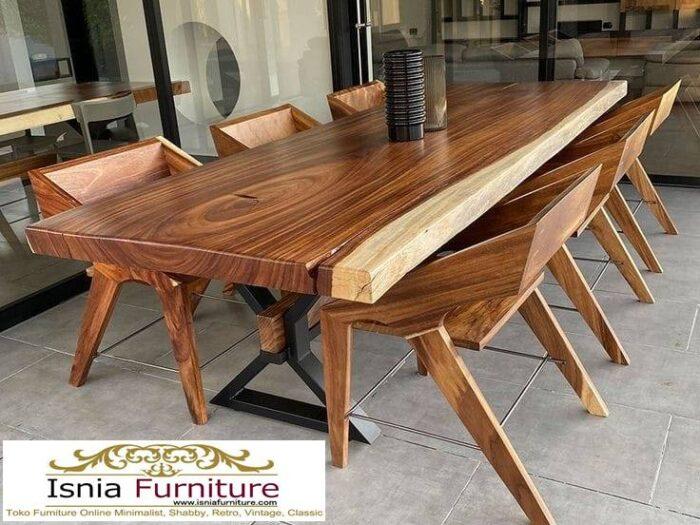 meja-kayu-besar-untuk-meja-makan-kaki-besi-700x525 Jual Meja Kayu Lebar Harga Terjangkau Modern Terlaris