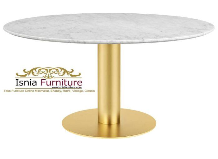 meja-makan-marmer-bulat-kaki-stainless-model-terbaru-berkualitas-700x511 Jual Meja Makan Marmer Bulat Kaki Stainless Modern