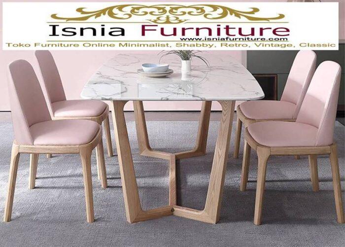 meja-makan-marmer-di-pekanbaru-kekinian-mewah-desain-kaki-kayu-unik-700x501 Jual Meja Makan Marmer Pekanbaru Model Terbaru