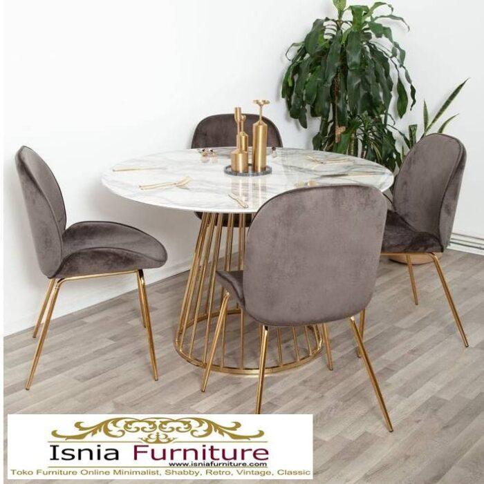 meja-makan-marmer-medan-bentuk-bulat-unik-700x701 Jual Meja Makan Marmer Bulat Kaki Stainless Modern