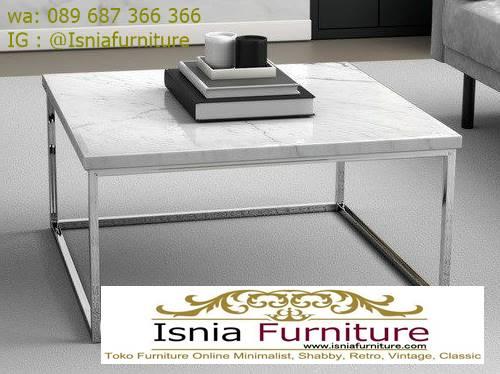 meja-marmer-ruaang-tamu-bentuk-kotak-kaki-stainless Jual Kaki Meja Stainless Kotak Harga Murah Terlaris