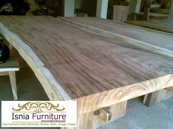 meja-trembesi-besar-kayu-solid-kekinian Jual Meja Kayu Lebar Harga Terjangkau Modern Terlaris