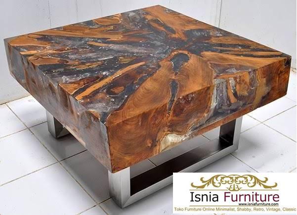 meja-trembesi-tebal-untuk-meja-tamu-desain-kaki-stainless Jual Meja Tamu Trembesi Jakarta Solid Model Terbaru