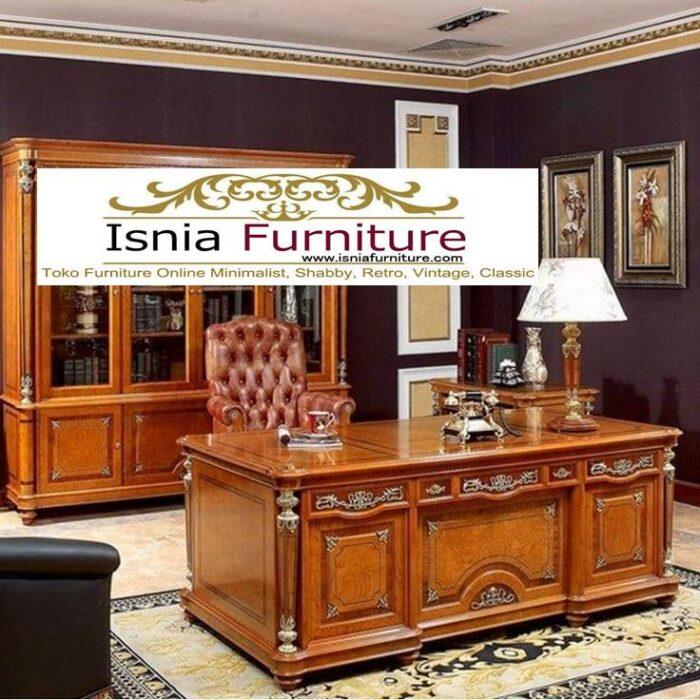 meja-direktur-kerja-kantor-kayu-jati-solid-mewah-700x700 Jual Meja Kantor Direktur Tangerang Harga Murah