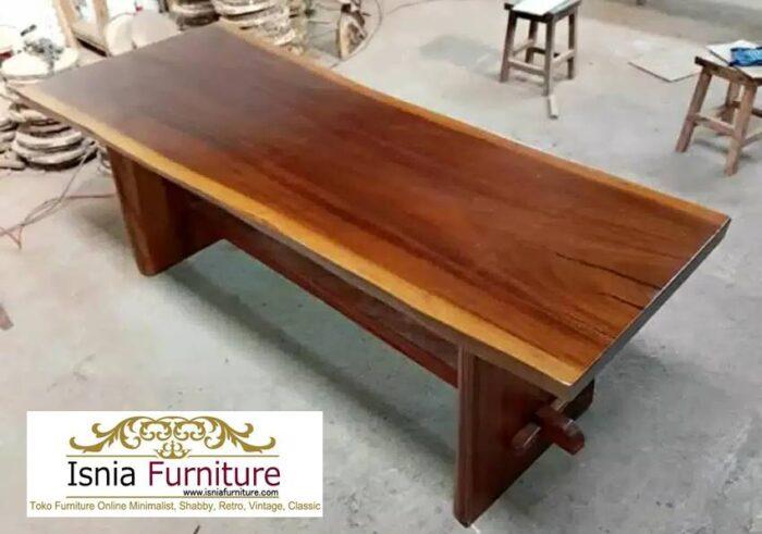 meja-kayu-mahoni-utuh-tebal-kekinian-700x491 Jual Meja Kayu Mahoni Utuh Tebal Solid Termurah