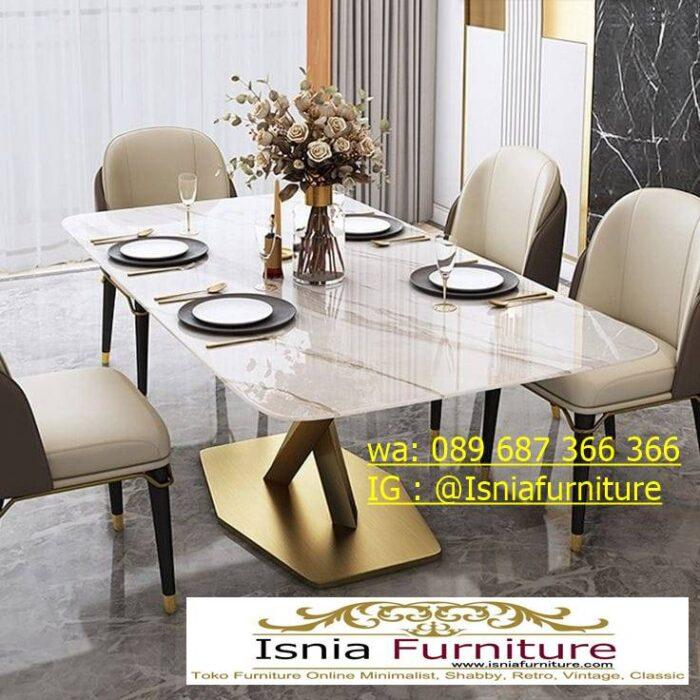 meja-makan-marmer-termahal-desain-kaki-stainless-gold-mewah-700x700 Jual Meja Makan Marmer Termahal Model Terbaru