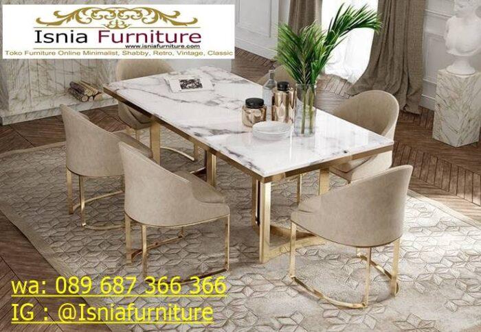 meja-makan-marmer-termahal-mewah-desain-6-kursi-700x484 Jual Meja Makan Marmer Termahal Model Terbaru