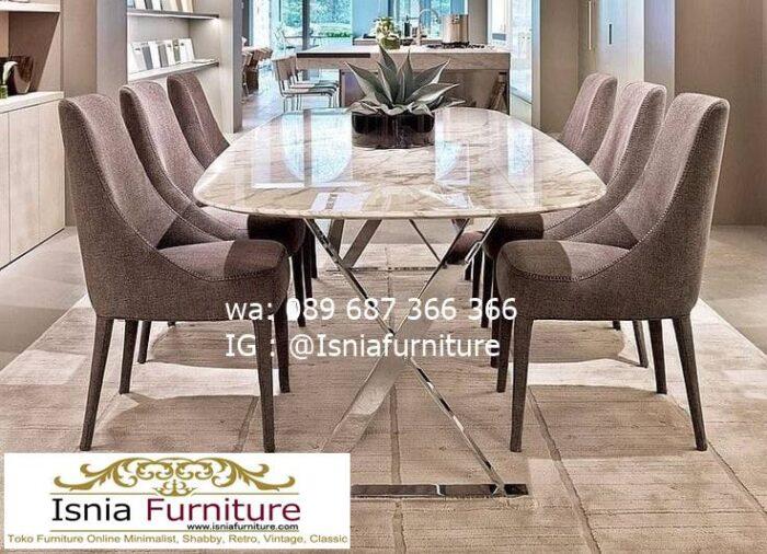 meja-marmer-import-paling-mewah-desain-kaki-stainless-700x506 Jual Meja Marmer Import Modern Harga Murah