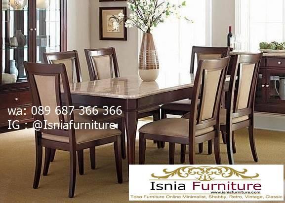 meja-marmer-import-perpaduan-kayu-jati-minimalis Jual Meja Marmer Import Modern Harga Murah