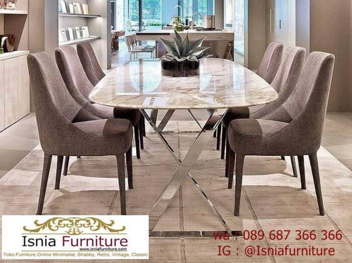 meja-marmer-italy-desain-kaki-stainless-mewah-700x523 Jual Meja Marmer Italy Berkualitas Terbaik Harga Terjangkau