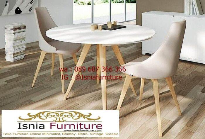 meja-marmer-kaki-kayu-bentuk-bulat-unik-700x474 Jual Meja Marmer Kaki Kayu Minimalis Modern Berkualitas