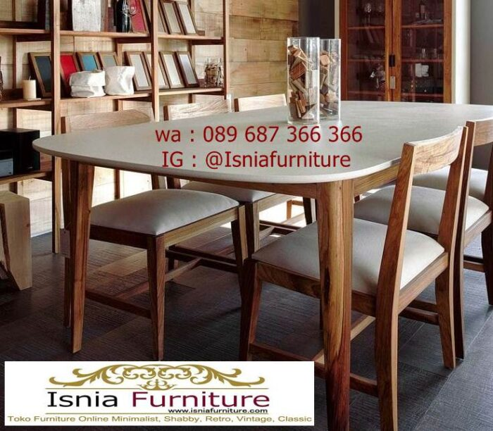 meja-marmer-kaki-kayu-solid-harga-terjangkau-700x612 Jual Meja Marmer Kaki Kayu Minimalis Modern Berkualitas