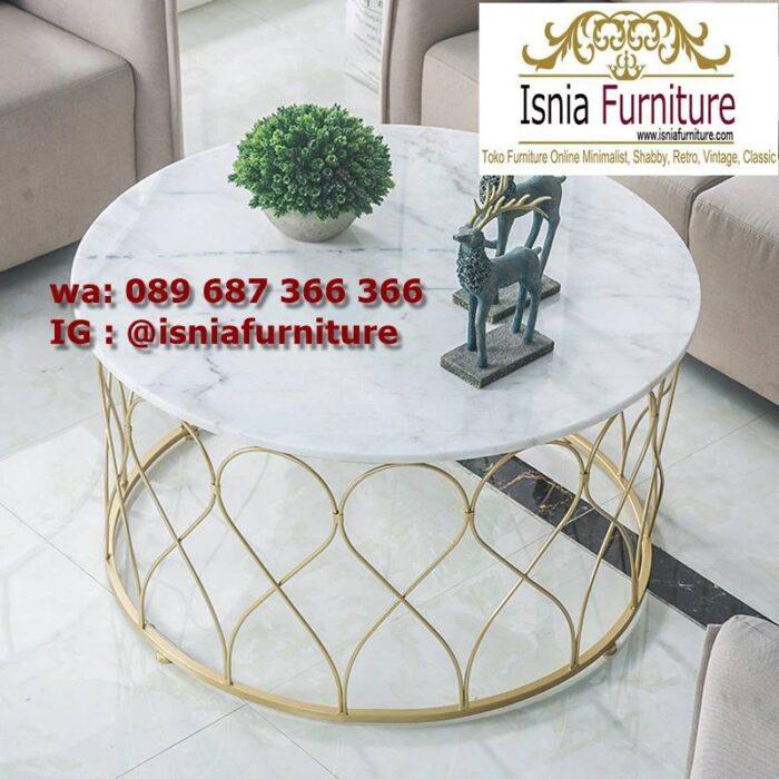 meja-sofa-marmer-bentuk-bulat-desain-kaki-stainless-gold-700x700 Jual Meja Sofa Marmer Unik Minimalis Modern