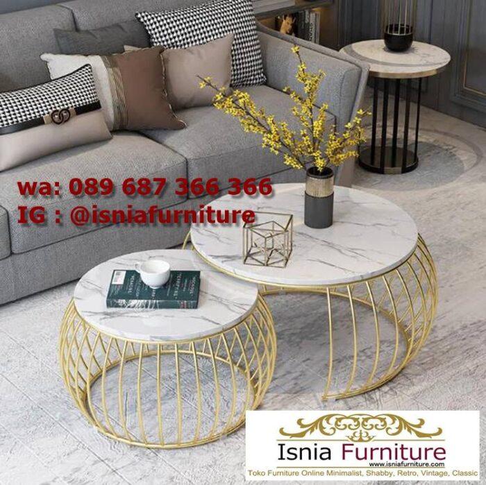 meja-sofa-marmer-bentuk-bulat-minimalis-termewah-700x699 Jual Meja Sofa Marmer Unik Minimalis Modern
