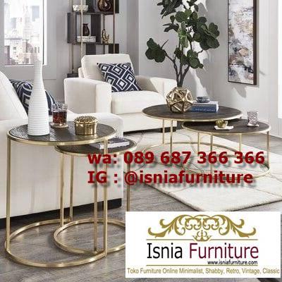 meja-sofa-marmer-bentuk-bulat-unik Jual Meja Sofa Marmer Unik Minimalis Modern