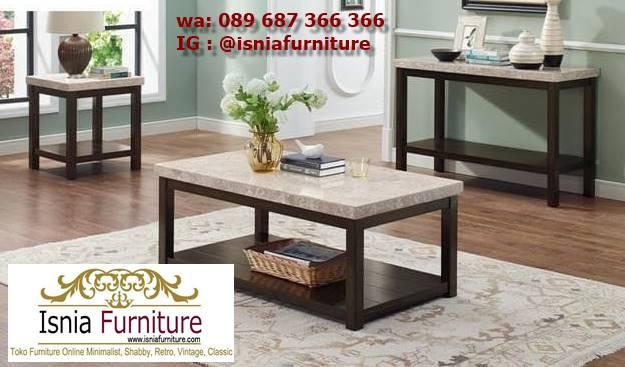 meja-sofa-marmer-desain-kaki-kayu-minimalis Jual Meja Sofa Marmer Unik Minimalis Modern