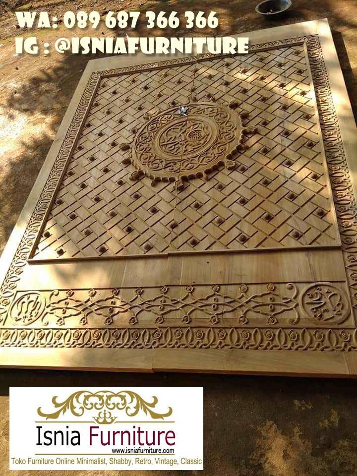 Jual Pintu Masjid Nabawi Kayu Jati Mewah Murah