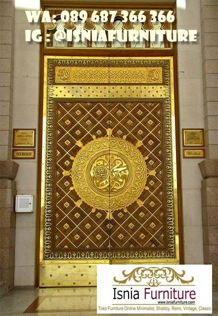 pintu-masjid-nabawi-kayu-jati-kekinian Jual Pintu Masjid Nabawi Kayu Jati Mewah Murah