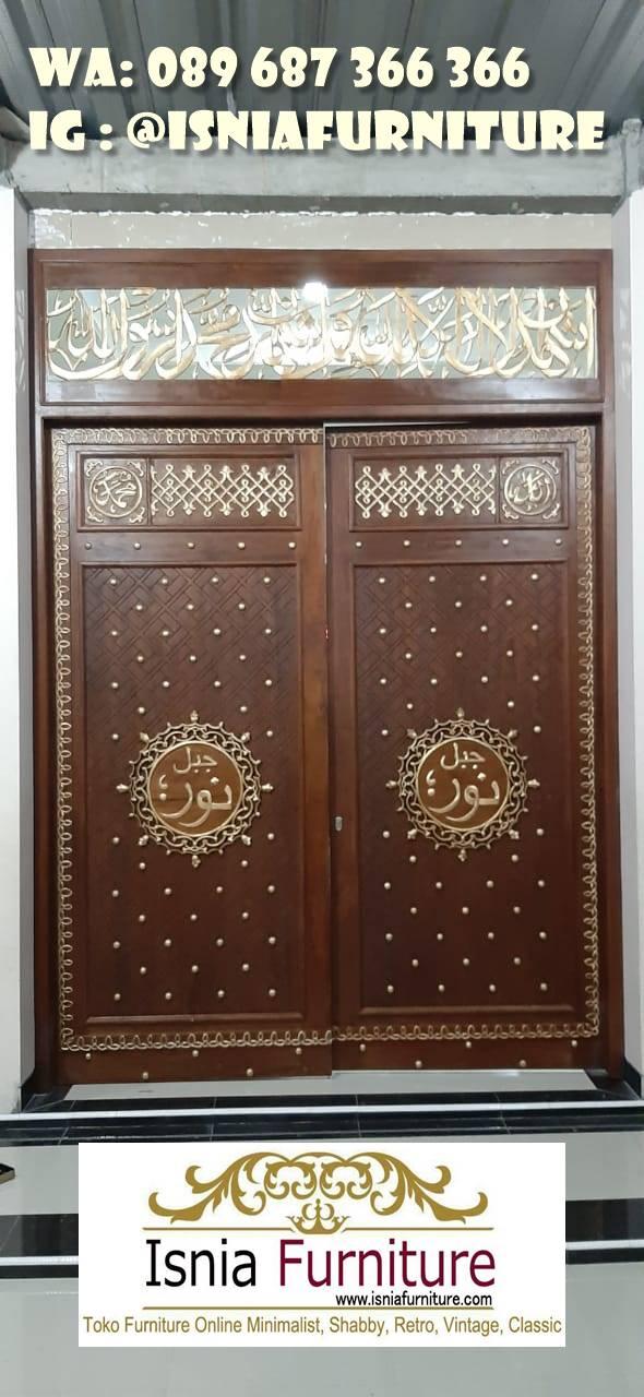 pintu-masjid-nabawi-kayu-jati-solid-murah Jual Pintu Masjid Nabawi Kayu Jati Mewah Murah
